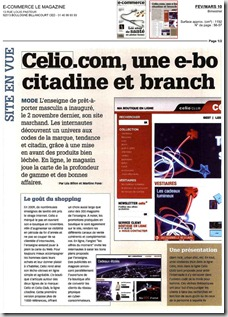 celio e-commerce magazine Fev. Mars 10