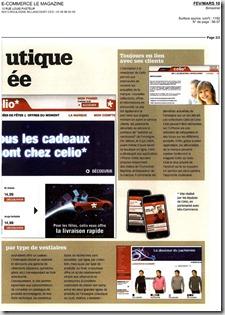 celio  page 2 e-commerce magazine Fev. Mars 10